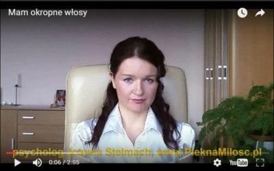 """screen z wideo """"Mam okropne włosy"""" www.PieknaMilosc.pl"""