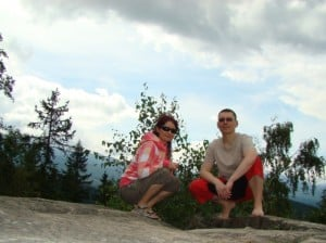Asia i Tomek na skale Patelnia