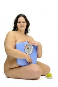 Ładna otyła kobieta