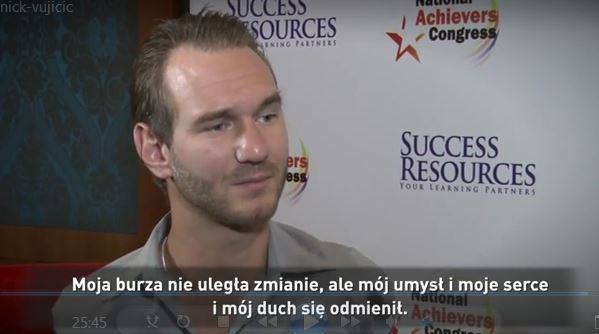 Wywiad z Nickiem Vujicicem z tłumaczeniem na język polski