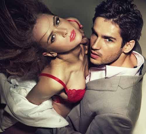 Mężczyzna i kobieta w miłosnym związku