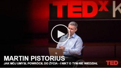 Martin Pistorius podczas konferencji TED