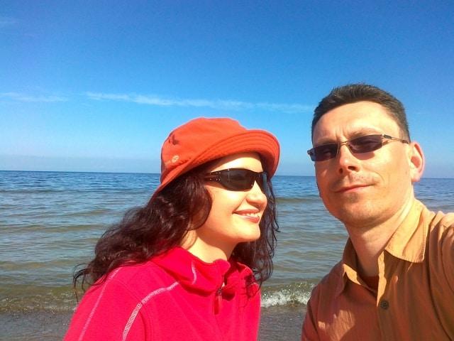 Joasia i Tomek nad morzem