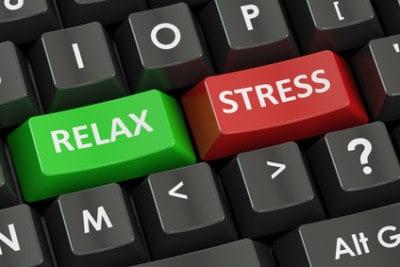 Klawisze na klawiaturze komputerowej relaks i stres
