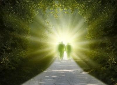 Spacer w kierunku światła