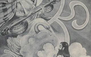 Bogini Sarasvati pojawia się przed Yajnavalkya
